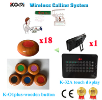 Wireless Ordering System Table Buzzer Calling CE Passed(1 display+18 call button)