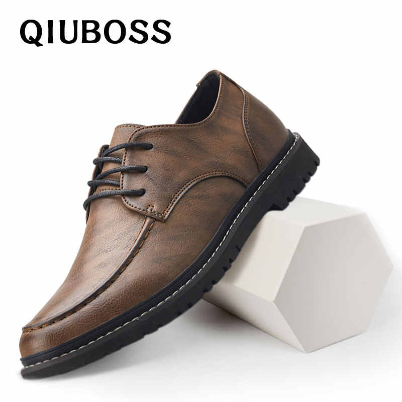 Mens dress Shoes genuine Leather boat