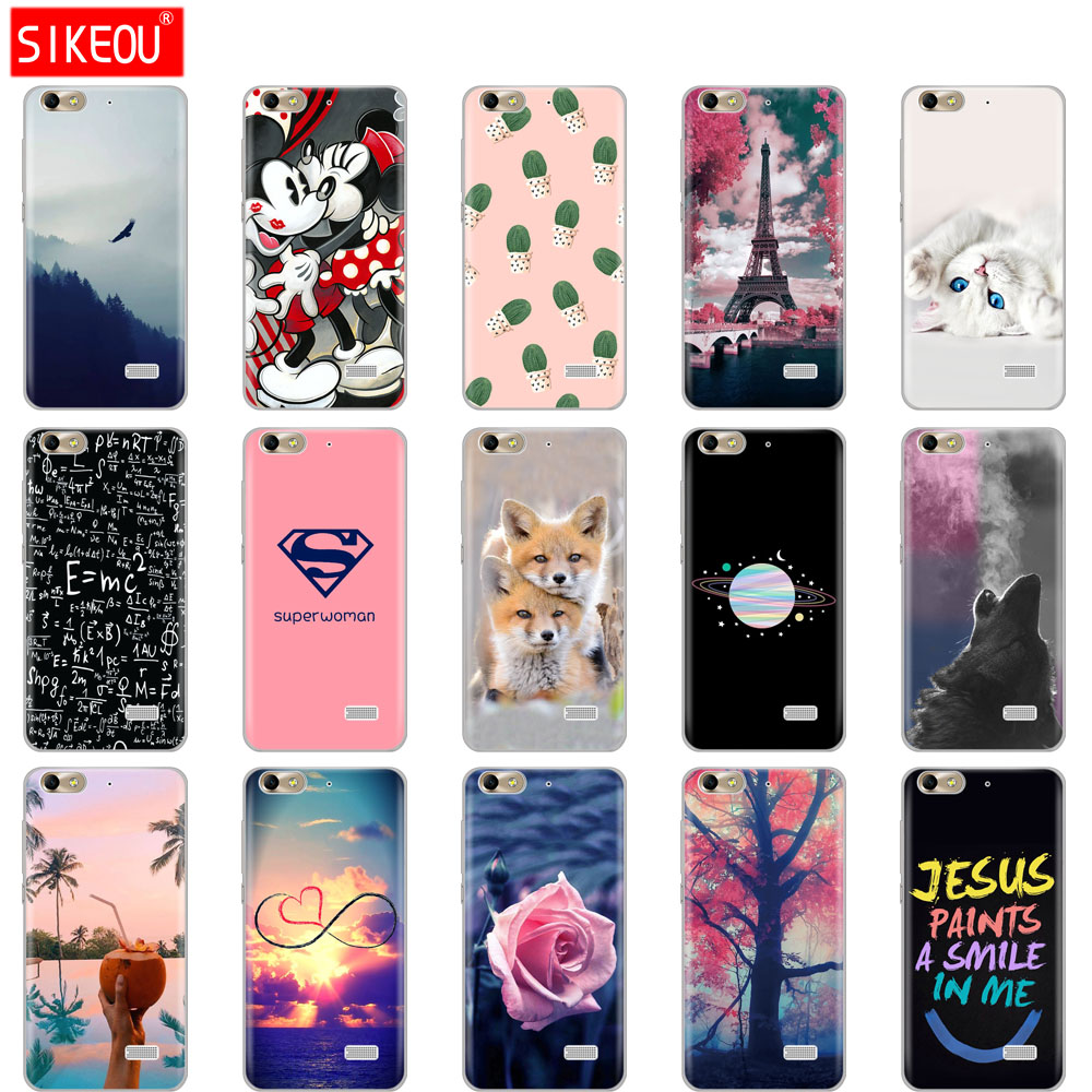 Cover For Huawei Honor 4C Case Soft Tpu Silicone Phone Case For Honor 4 C Print Painted Shells Bags Fundas Phone Bag