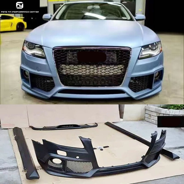 A4 B8 Auto Car Front Bumper Side Skirts Rear Diffuser For Audi A4 B8