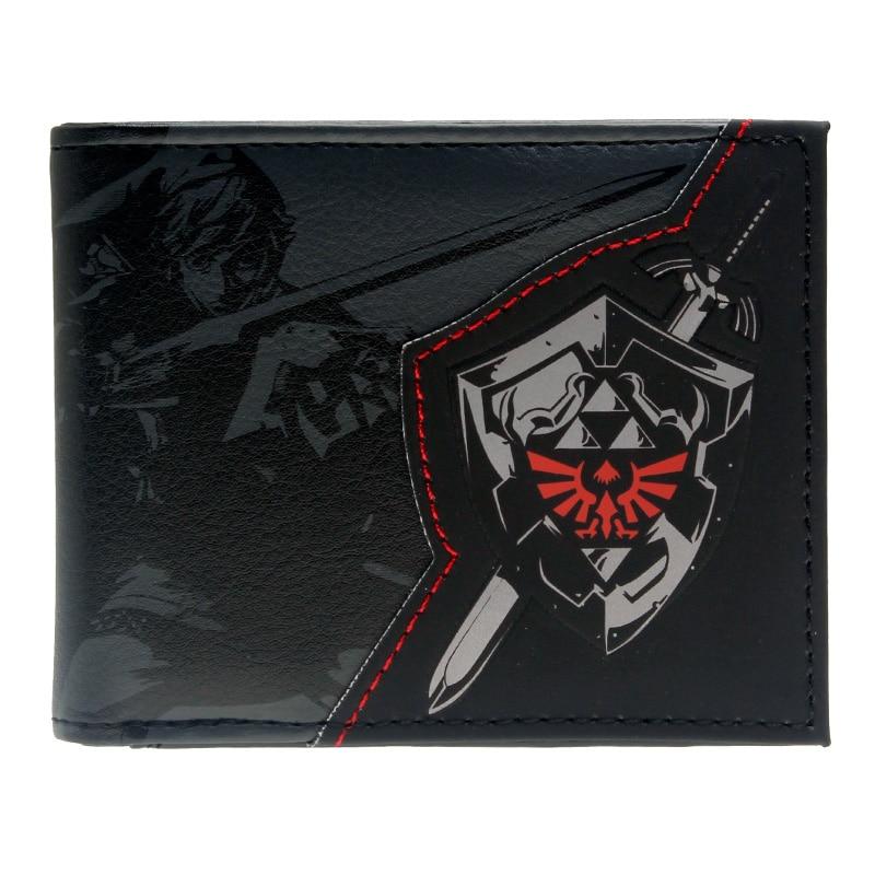 The Legend Of Zelda Wallet Shadow Link Bifold Men Wallet  Women Purse DFT-1857