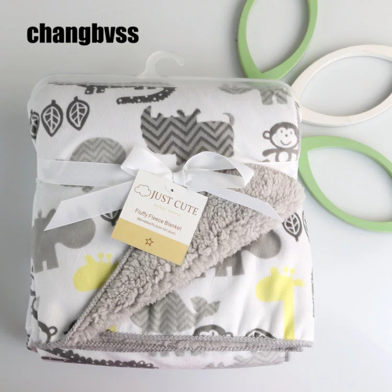 Flannel Baby Blankets Manta  Soft Child Bedding Sheet Infant Swaddle Wrap Air Conditioning Blanket Baby Receiving Blanket