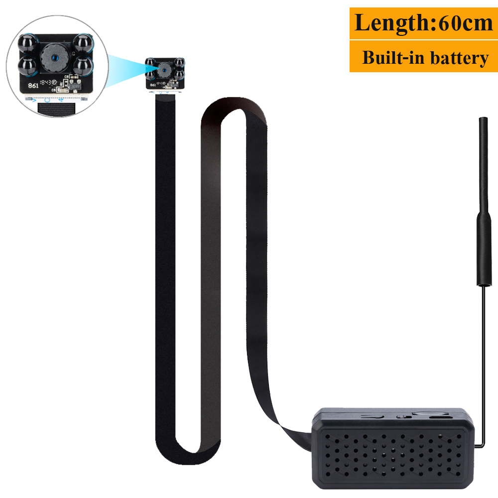 Mini caméra de surveillance cctv ip caméra wifi mini camera wifi 4 K version HD batterie intégré APP Vue à distance la surveillance vision nocturne 60 cm
