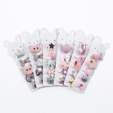 5Pcs/set Cartoon Baby Hair Clips Cute Handmade Glitter Crown Hairpins For Girls Tassels Bowknot Baby Barrettes Hair Accessories
