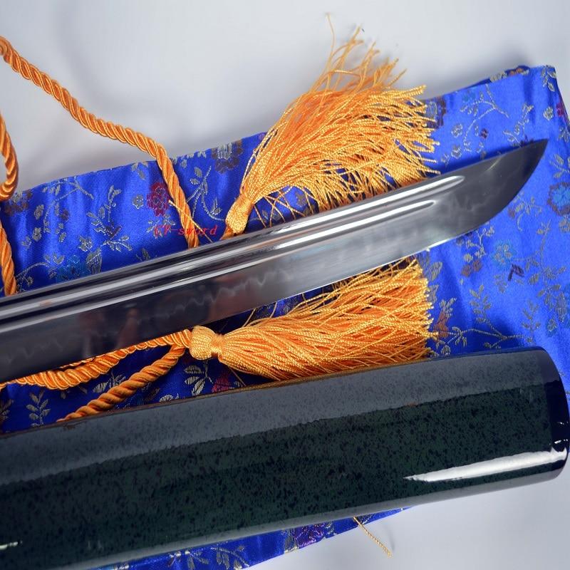Clay Tempered Japanese Green Theme Katana Choji Hamon Sword Phenix - Տնային դեկոր - Լուսանկար 3