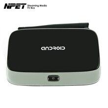NPET CS918 Android Smart TV Box Quad Core 2 GB 8G/16 GB 1080 P RK3188 Media Player Preinstalado XBMC KODI Ad-ons Q7 Android IPTV