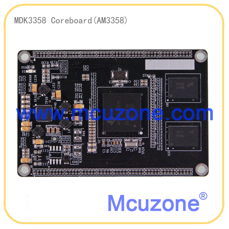 AM3358, MDK3358 Core Board, 720MHz Cortex-A8 CPU, 256MB DDR2, LCD, Ethernet, USB OTG, AM335x, AM3359