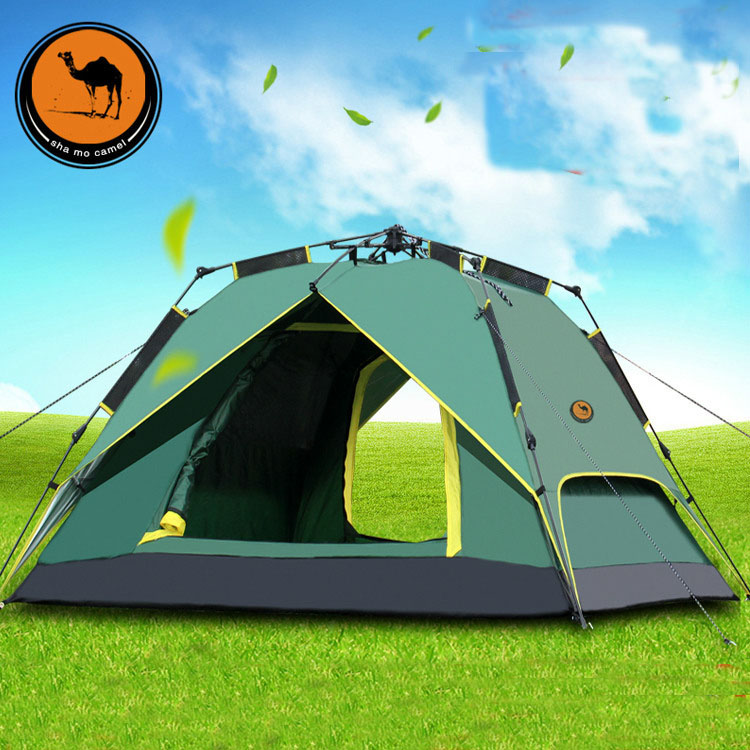 New outdoor big space 3-4person automatic beach party tents waterproof anti-UV family camping camping tent new outdoor 3 4person big space anti uv pyramid beach tents waterproof family camping tent