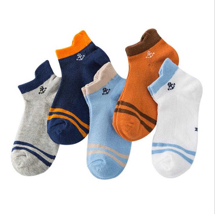 Children Mesh Socks Anchor Star Cotton Spring Summer Boys Girls Kids Socks For 3-12 Year