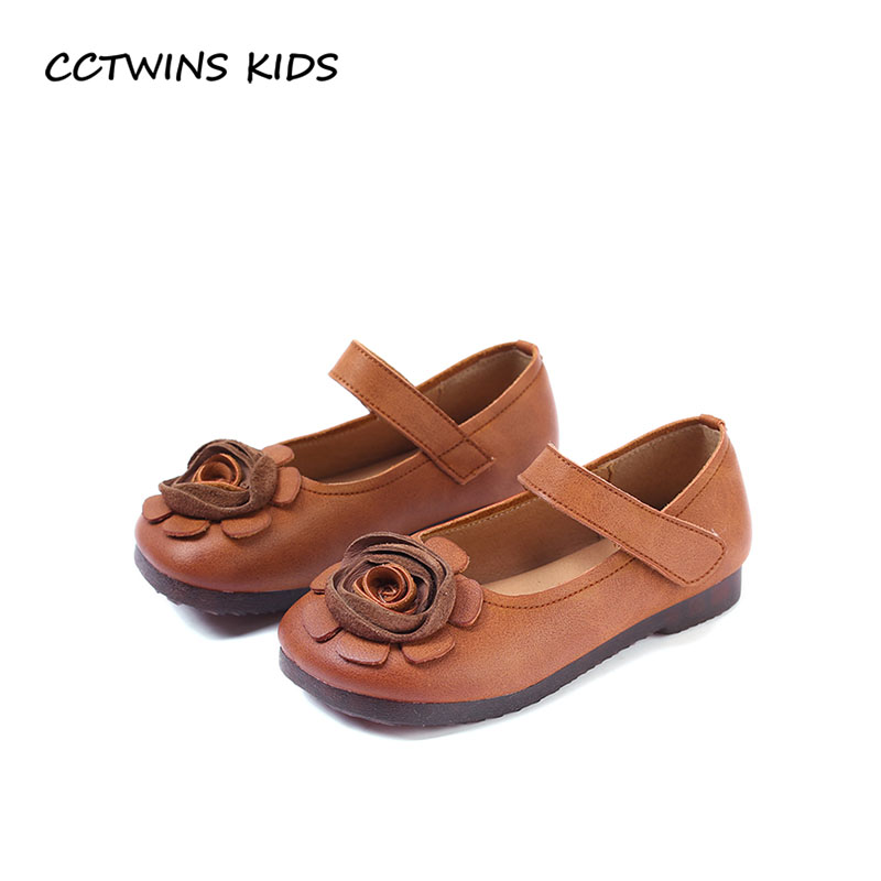 CCTWINS KIDS 2018 Autumn Girl Flower Mary Jane Children Genuine Leather Flat Baby Fashion Princess Shoe Toddler GM2154 cctwins kids 2018 spring fashion pink princess butterfly shoe children genuine leather mary jane baby girl party flat gm1942