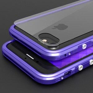 Image 4 - מתכת פגוש עבור iphone 8 מקרה כיסוי יוקרה אלומיניום מסגרת עבור iphone 8 בתוספת ברור שקוף חזרה עמיד הלם טלפון מקרה