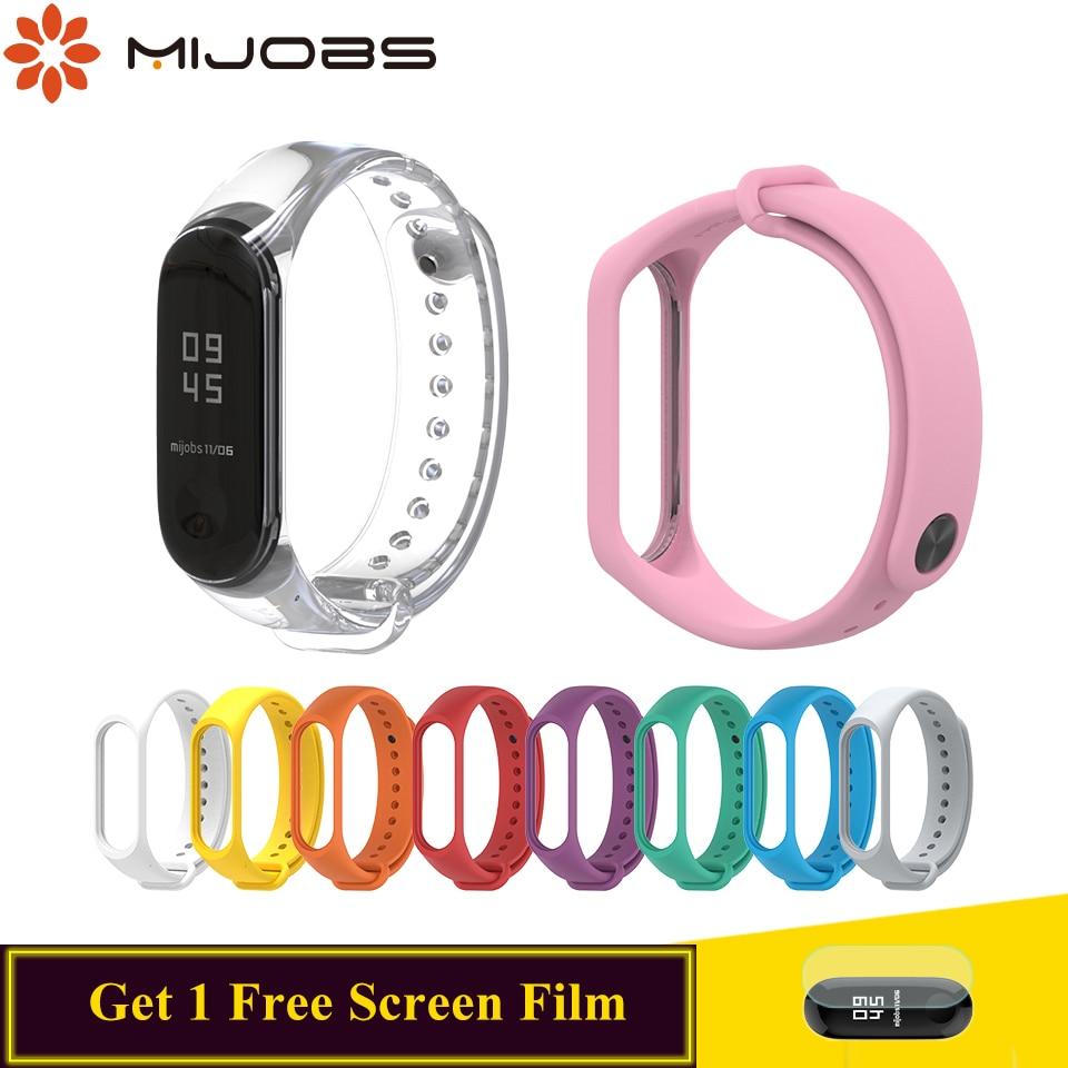 Mijobs Bracelet for Xiaomi Mi Band 3 Strap Accessories Silicone Wrist Mi Band 3 Bracelet Smart Watch Band Correa Mi Band 3 Strap