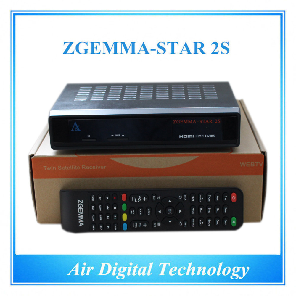 20 pcs/lot HD DVB S2&S twin tuner Satellite receiver enigma2 Linux OS free to air Zgemma Star 2S azbox premium hd plus twin tuner receiver 2 dvb s2 tuner