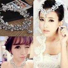 купить New 2014 100% Handmade Teardrop CZ Crystal Pearl Bridal Jewelry Sets Wedding Jewelry including Necklace Earrings по цене 844.78 рублей