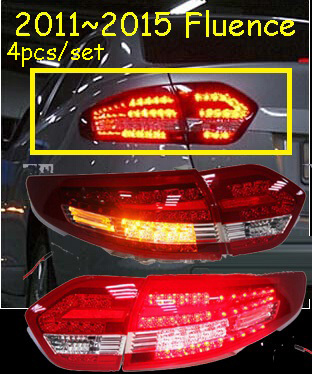 car-styling,Fluence Taillight,2011~2015,Free ship!4pcs,Fluence fog light;chrome,Fluence tail lamp,car-detector,koleos car styling yukon taillight 2015 2017 2pcs set led free ship yukon fog light chrome yukon tail lamp car detector yukon