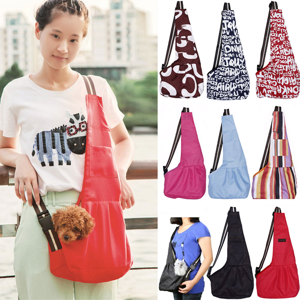 Travel Pet Dog Front Carrier Shoulder Bags Oxford Cat Dog Puppy Chihuahua Small Animal Crossbody Slings Carrying Bag 2017ing