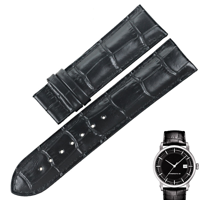 ISUNZUN ISUNZUN Men Watch Straps For Tissot T086407A T086 Genuine leather Watch Band Nato Leather Strap 22mm Men Wath Band in Watchbands from Watches