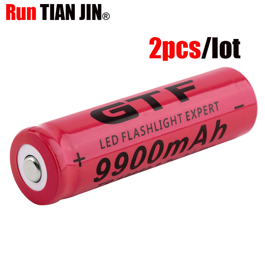 1pc Battery charger Not AA Battery 2PCS button top 18650 Battery 3.7V 6800mAH Li-ion Rechargeable Batteries For 18650 Flashlight Torch toys