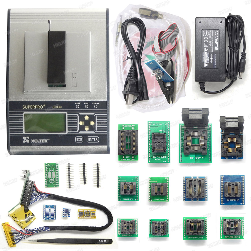 US $895 99 |New and Original XELTEK SUPERPRO 6100 6100N Universal IC Chip  Device Programmer NEWEST version + 16 Adapters +EDID Cable-in Integrated