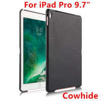Case Cowhide For Apple IPad Pro 9 7 Protective Shell Smart Cover Genuine Leather Back Case