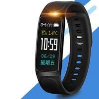 Czarno Mężczyzn Inteligentny Zegarek Bransoletka Sportu Doprowadziły Inteligentne Zegarki Na Rękę Silikonowy Hot Run Krokomierz Wielofunkcyjny Casual Zegar