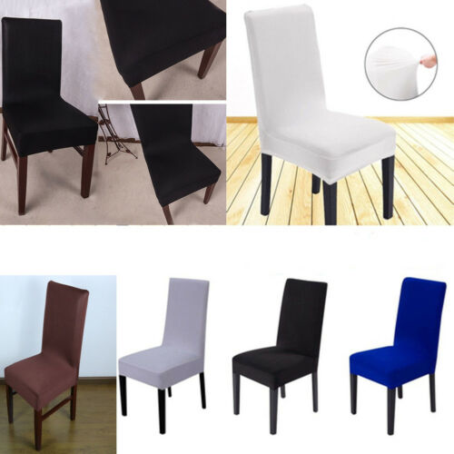 Spandex Stretch Wedding Banquet Chair Cover Party Decor Dining Room Solid Color Seat