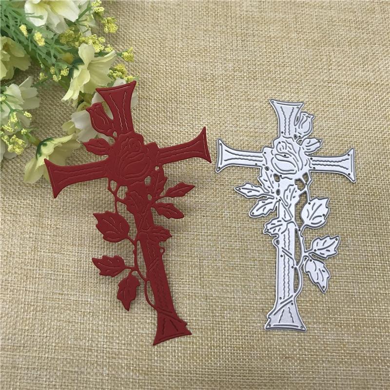 Cross Vine Border Metal Dies Scrapbooking Metal Cutting Dies Craft Stamps Die Cut Embossing Card Make Stencil Frame