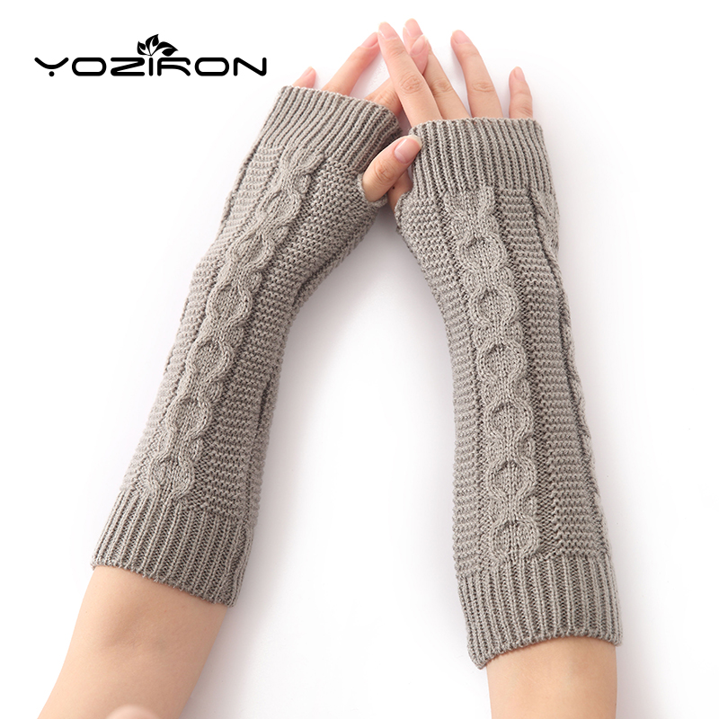 YOZIRON New Women Autumn Winter Arm Warmers Sleeves Arm Sleeves For Women Fingerless Gloves