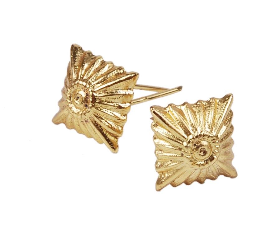 2 PCS WW2 GERMAN PANK PIPS GOLD STARS FOR SHOULDER BOARDS