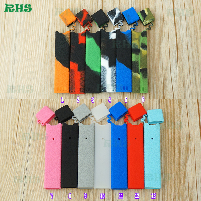 1pcs Colorful Skin Decal for Pax Juul Protective Silicone Case for juul ecig kit vape pen juul skin wrap free shipping