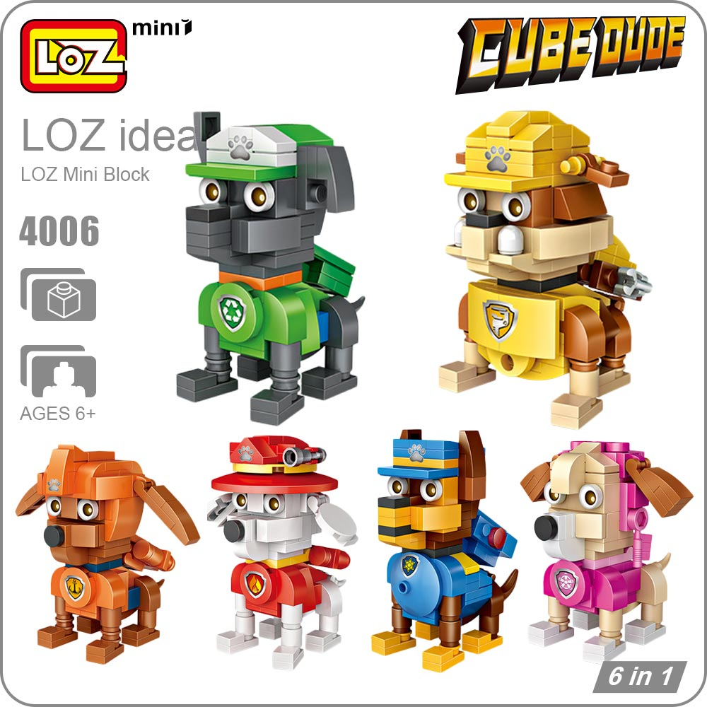 LOZ Blocks Lot Mini Blocks Buildings LOZ Cartoon Dog Toys Mini Animal Figures Assembly Model Pet Eggs DIY Children Gift Set 4006 new lps lovely toys animal cartoon cat dog action figures collection kids toys gifts