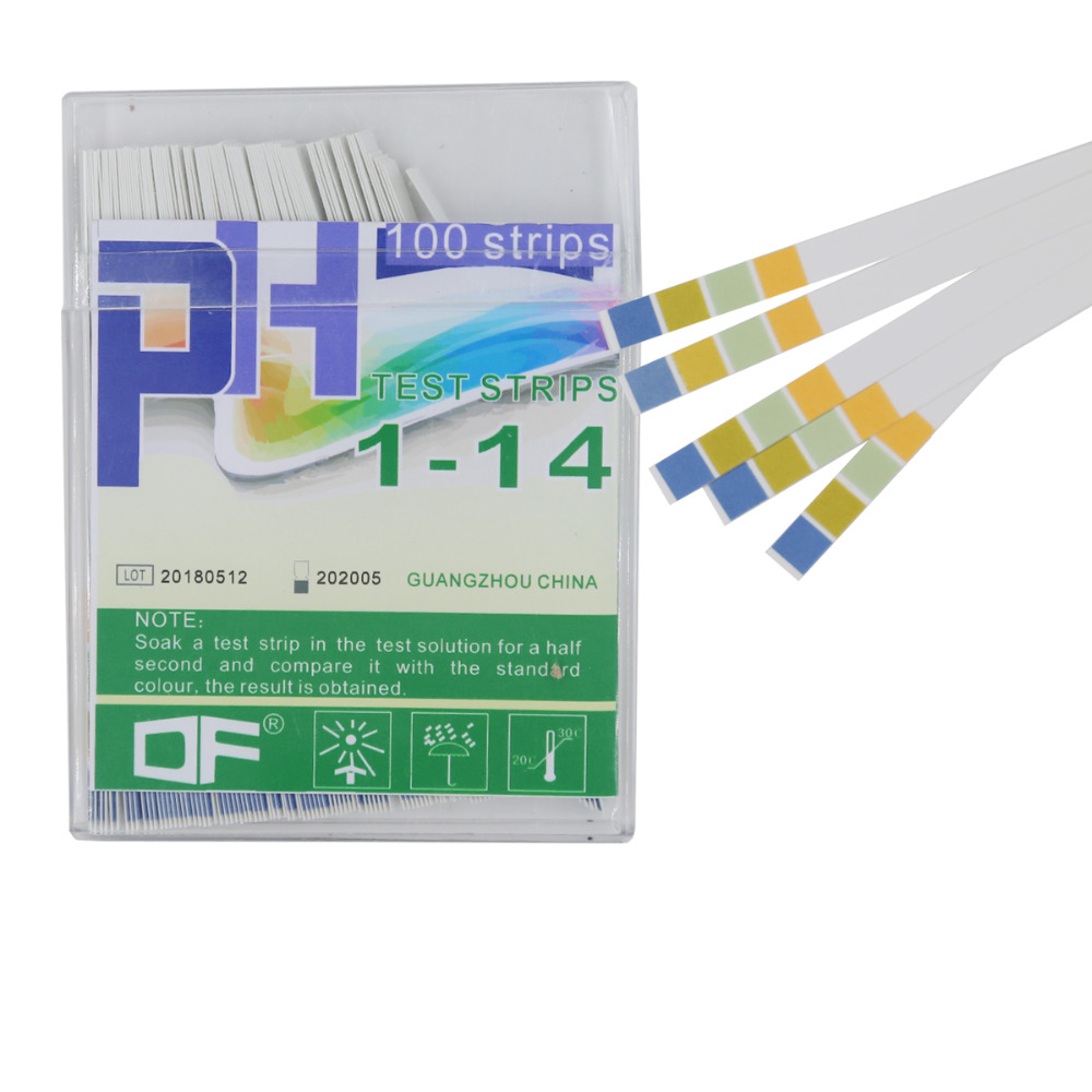 100 Strips All Kinds Of PH Test Strips Range 0-14 PH Indicator Litmus Testing Deal For Test PH Level Of Water 40%off