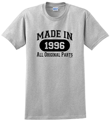 2017 Summer New Fashion 21st Birthday Gifts Made 1996 All Original Parts T-Shirt Sleeve Hip-Hop Tops Tees