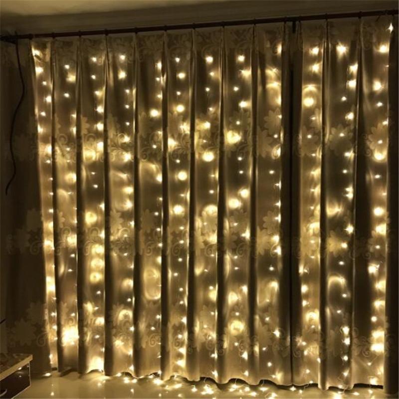 3M x 3M 300 LED al aire libre Inicio cálido blanco Navidad - Iluminación de vacaciones - foto 5
