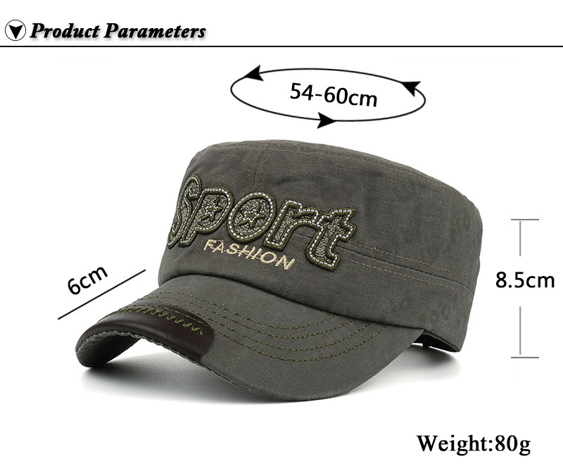 """Embroidered """"Sport"""" Milicap - Product Parameters"""