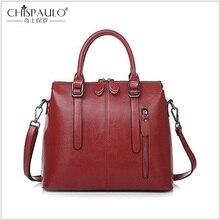 Высококачественная женская сумка из натуральной кожи, женская сумка на плечо, Европейская и американская кожаная сумка из воска, сумка через плечо