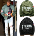 MA1 Bomber Flight jacket KANYE WEST YEEZUS tour jackets limit edition yeezy young mens hip hop streetwear Warm winter coats