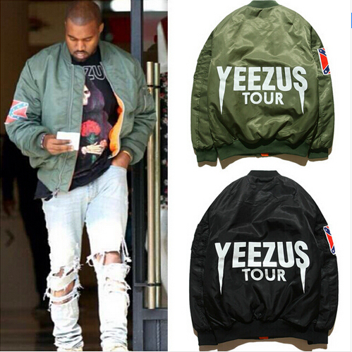 MA1 Bomber Flight jacket KANYE WEST YEEZUS tour jackets limit edition yeezy young mens hip hop streetwear Warm winter coats