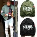 Ma1 бомбардировщик полета куртка канье уэст YEEZUS тур куртки предел издание yeezy молодых мужские хип-хоп уличной теплые зимние пальто