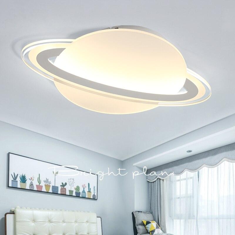 Lustre interstellaire en orbite plafond moderne à LEDs pour chambre d'enfants chambre d'enfants balcon chambre AC85-265V plafond lustre luminaire