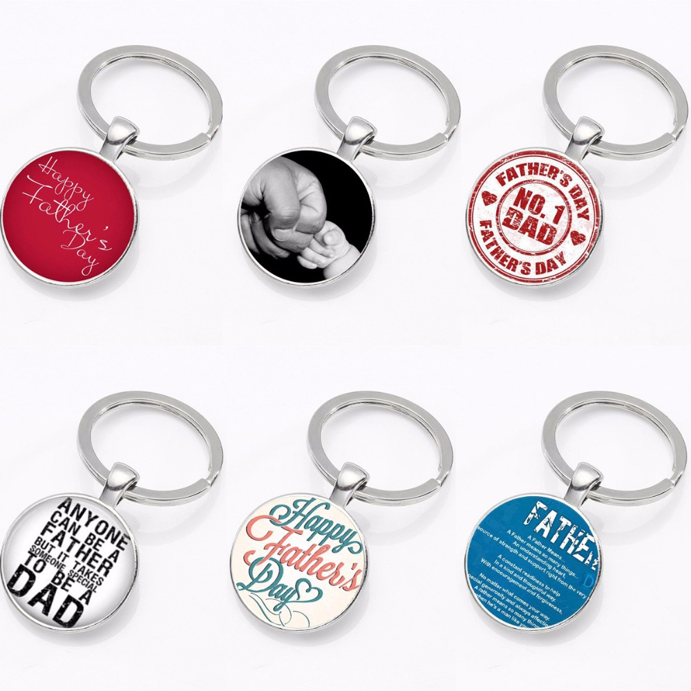 Fathers Day Gifts Daddy Keyring Keychain Jewelry Dad Pendant Charm Family Love