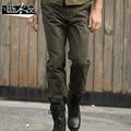 Military casual pants spring and summer male tooling trousers 100% cotton slub loose plus size pants