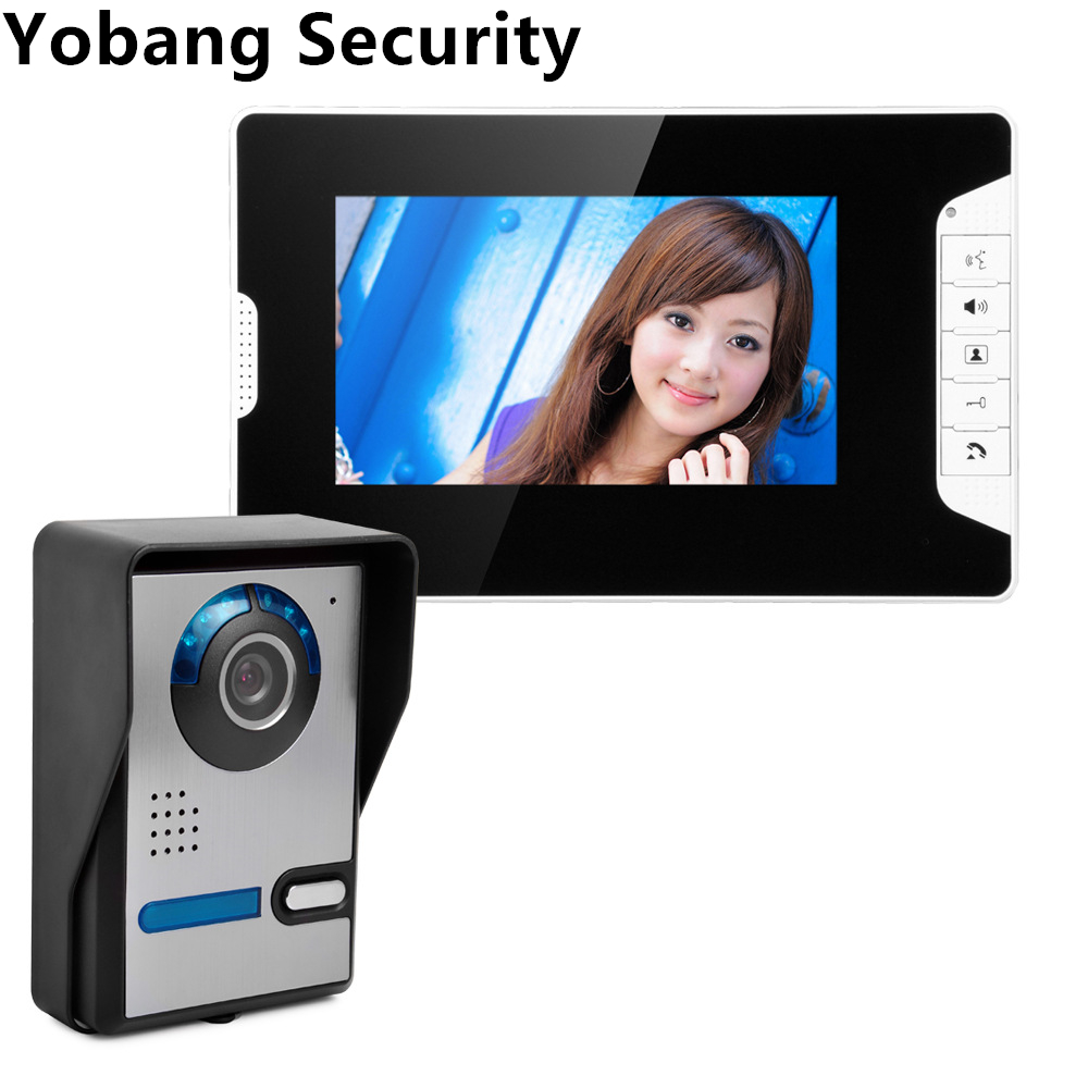 Yobang Security freeship 7Video Color Monitor Kit The Door Video Phone The Doorbell Intercom bell Doorbell Night Vision Camera yobang security freeship 7 video intercom for villa 2 monitor doorbell camera with 5pcs rfid cards hd doorbell camera in stock