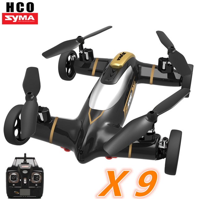 Syma X9 Air-Land Dual Mode RC Flying Car Drone Quadcopter UFO same size as X5C RC Helicopter Toys