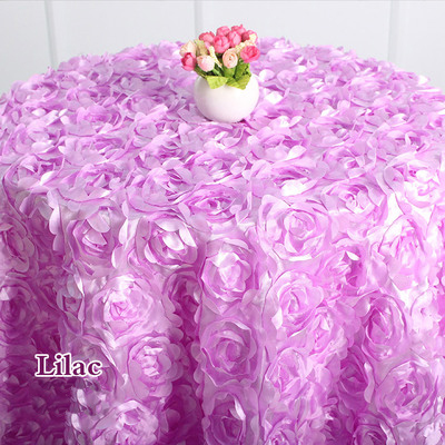 Exceptionnel Rosette Table Cloth Lilac Colour Rosette Embroider Table Cover For  Wedding,hotel Party And Restaurant Round Tables Decoration In Tablecloths  From Home ...