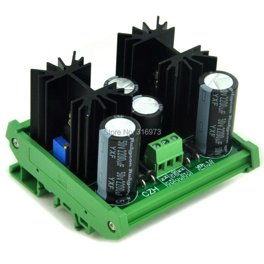 DIN Rail Mount Positive/Negative 1.25~37V DC Adjustable Voltage Regulator Module