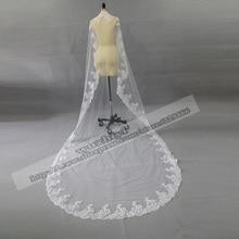 Wuzhiyi свадебное платье невесты Горячая 3 метра длиной Тюль Свадебные аксессуары кружевная вуаль Свадебные вуали белые свадебные платья, фата