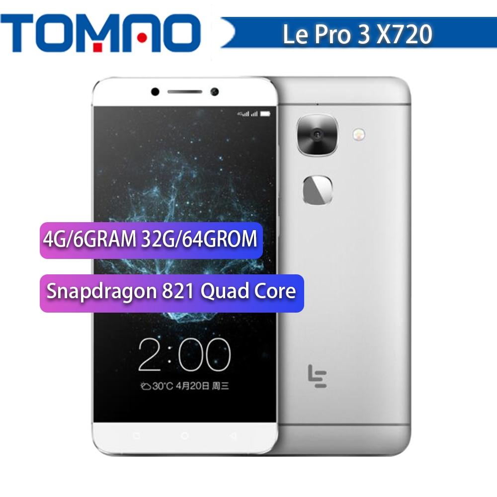 """NUOVO Letv LeEco Le Pro 3 X720 Del Telefono Mobile 4G/6GRAM 32G/64GROM Snapdragon 821 Quad Core 5.5 """"Dual SIM 16MP 4070mAh 4G LTE Google"""