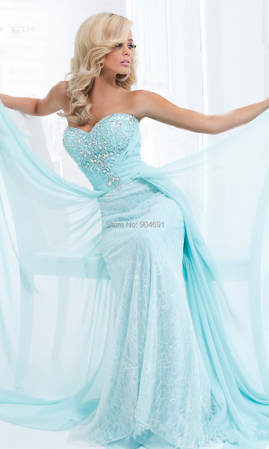 Prom Dress 2015 Vestidos New Elegant Crystal Lace ...