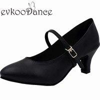 Zapatos De Baile Szie US 4 12 Black Leather Closed Toe 5 Cm Low Heel Comfortable
